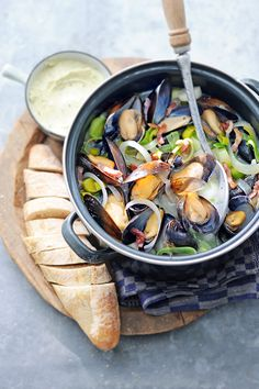 Clam Recipes, Fish Recipes, Healthy Recipes, Lemon Kitchen, Mussels, Clams, Fish And Seafood, Nom Nom, Main Dishes