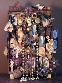 Altars: Ancestor #Shrine, by Laurie Zuckermann, to honor her parents.                                                                                                                                                     More