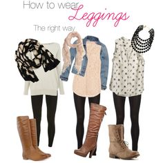 How to wear leggings the right way