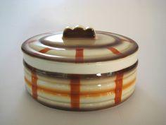 Keksdose Deckeldose Bauhaus Spritzdekor Ceramic Weimarer Republic Art Deco