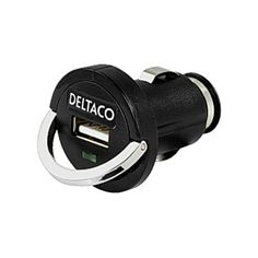 Adapter DELTACO USB bil| handla billigt online hos Kontorsproffset Väldigt liten och smidig adapter för att t.ex. kunna ladda mobiltelefonen via cigguttaget. Mått(BxDxH): 33x43x33mm.