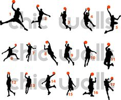 Michael Jordan Jumpman Air Basketball NBA Dunk by ChicWallsDesign