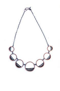 Mixed Metal Statement Necklace Copper and Silver by ErinAustin