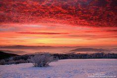 Sunrise in my ancestral home, Slovakia