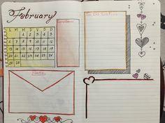 Bullet journal-February ❤