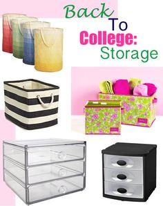 Great tools for storing necessities in your dorm!