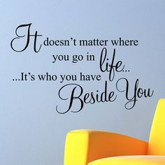 'Beside You' Wall Sticker Quote