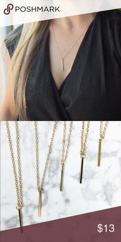✨BUY 1 GET 1 FREE✨ Bar Necklace Item name: Gold Bar Drop Necklace Quantity: 2 Sizes in pack: one size  Material content: alloy metals, Lead Free Wila Jewelry Necklaces