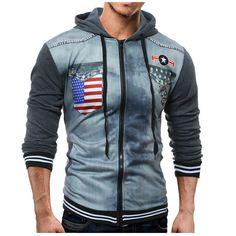 >> Click to Buy << 2017 Autumn Fashion Brand Hoodies Men Casual Sportswear Dragons Print Male Hoody Zipper Long Sleeve Sweatshirt Jacket Size XXL #Affiliate