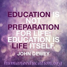 How has #education shaped your life? #edchat humaneeducation.org