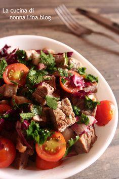 INSALATA DI CARNE ESTIVA, APPETITOSA!!! #insalata #carne #ricettaestiva #gialloblog #ricettefacili