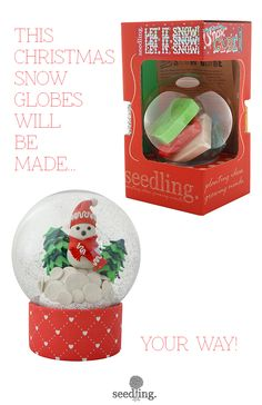 Make your own snow globe is the perfect holiday gift for the creative kid! www.seedling.com