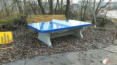 Pingpongtafel Afgerond Blauw bij Gemeentewerf in Oosterhout