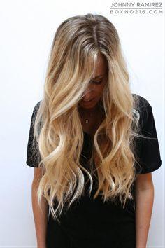 Hair Color by JOHNNY RAMIREZ • IG: @johnnyramirez1 • Ramirez|Tran Salon • 310.724.8167 • info@ramireztran.com // #ramireztran #johnnyramirez #ramireztransalon #boxno216 #beautifulhair #wavyhair #longhair #blonde #brunette #beverlyhills #hairinspiration #summerhair #beachhair