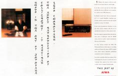 Read more: https://www.luerzersarchive.com/en/magazine/print-detail/aiwa-14138.html Aiwa Shodo is the art of Japanese calligraphy. It requires the exact reproduction of 1500 characters. Claim: The art of Aiwa. Tags: Howell Henry Chaldecott Lury & Partners, London,Andreas Heumann,HHCL + Partners, London,Aiwa,Axel Chaldecott