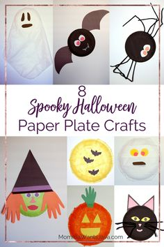These 8 Spooky Halloween Paper Plate Crafts are so easy to make! They're great for decorations, toys, and for something fun to do.