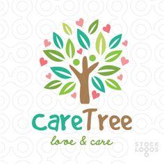 #logo care tree - More #logos in:www.stocklogos.com/user/rossini
