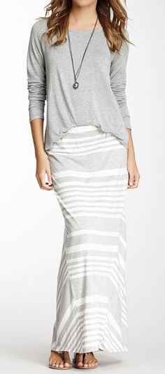 Already have a maxi skirt that would go great with that top- looks warm-ish, too!