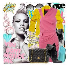"""""""spiked Pink lemonade!"""" by kirakay ❤ liked on Polyvore featuring Isabel Marant, Chanel, Sue Devitt, by Auds, Emanuel Ungaro, Benefit, Balmain and Preen"""