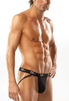 Because lingerie isn't just for women...and because women need eye candy too...yum!!  Mens Black Zakk Jock Strap by Coquette International CQ-Z5315 at Sensual Elegance