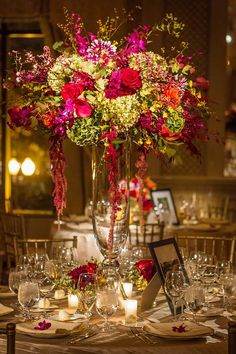 Magnificent center piece in the Four Seasons Hotel Boston Ballroom  Photo Courtesy of: NikkiPhotos.com