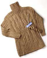 Berroco® FREE knitting pattern | Moira - cabled turtleneck tunic sweater (hva)