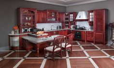 OP12-X105 solid wood kitchen cabinet