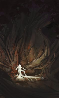 """""""Throne of the ancient mother Artist: Unknown . Character Inspiration, Character Art, Character Design, Character Concept, Landscape Concept, Fantasy Landscape, Dark Fantasy Art, Fantasy Artwork, Real Manga"""