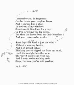 I remember you in fragments