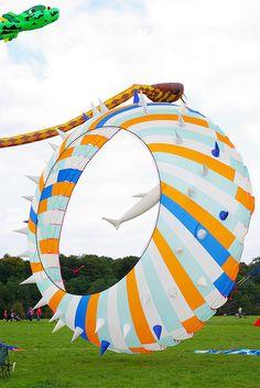 Bristol Kite Festival 09 by Simon Lexton, via Flickr... defying gravity!