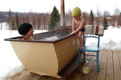 outdoor tub, wood fire bathtubs as an alternative to hot tubs. NEED THIS