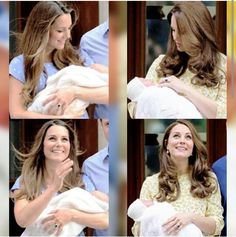 Prince George and Princess Charlotte parallels. 2013 & 2015