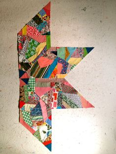 "a Giant Vintage Star quilt made of 18-20"" crumb blocks . . . . pic from nifty quilts"