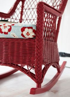 Wicker Rockers by Maine Cottage | The Fiona Rocker #mainecottage