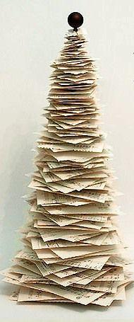 návod jak vyrobit papírový vánoční stromeček
