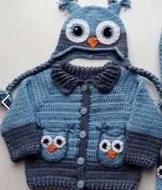 Yeni Baykuşlu bebek hırkası yapılışı: « Örgü Modelleri