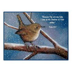 WREN IN WINTER: ART: BIBLE VERSE, PSALMS