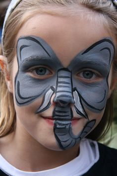 Elephant Face Painting Animal Face Paintings, Animal Faces, Elephant Costumes, Elephant Face, Animal Makeup, Clown Faces, Face Painting Designs, Costume Makeup, Painting For Kids