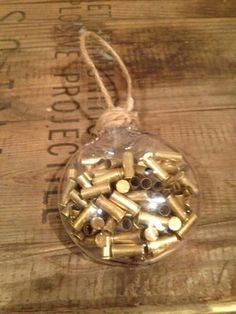 Redneck Christmas Ornament: Cool idea for a gun lover Diy Christmas Ornaments, Homemade Christmas, Holiday Crafts, Christmas Holidays, Christmas Bulbs, Holiday Fun, Christmas Decorations, Christmas Ideas, Antler Christmas Tree