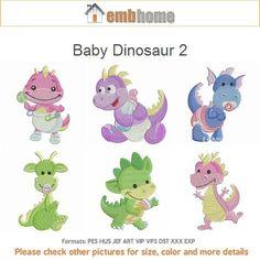 Baby Dinosaur 2 Nursery Animal Quilt Machine Embroidery Designs Instant Download 4x4 hoop 10 designs APE1942 on Etsy, $12.50