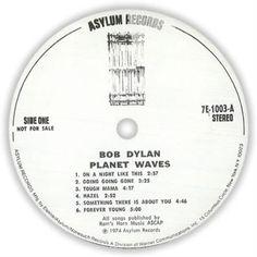 Bob Dylan Planet Waves vinyl LP album (LP record) US DYLLPPL74666