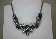 Ann Taylor Loft Silver Tone Faceted Crystal Necklace Women Fashion Jewelry | eBay