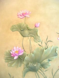 Watercolor Lotus, Lotus Painting, Watercolor Flowers, Maple Leaf Tattoos, Lotus Flower Pictures, Cement Art, Lotus Art, Plaster Art, Krishna Painting