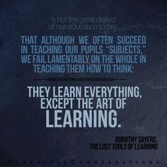 The lost tools of learning... #homeschool #classicaleducation