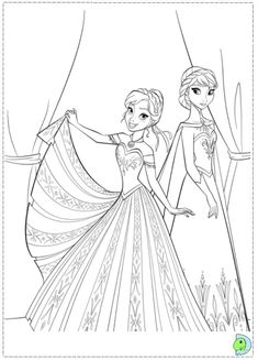 frozen cartoon characters coloring pages - photo#35