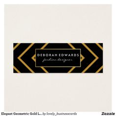 Elegant Geometric Gold Lines with Black Mini #BusinessCard #geometric #geometricgold #luxurious #partyplanner #eventplanner #goldsquares #fashiondesigner #blacklabel #goldlines #black #consultant #contemporary #gold #modern #fauxgold #golden #pattern #elegant #squares #lines #boxes #goldboxlines #new #modernistic #simple #cursive #designfirm #graphicdesigner #lawfirm #icon #lawyer #attorneyatlaw #fashion #fancy #fancytext