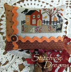Stitching Dreams- cute finish    (...cr....this is from a Prairie Schooler leaflet)