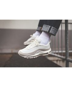 0ff8d681b3 Nike air max 97 white adds a classic style to the sneaker collection.  Designed from nature and a variety of materials