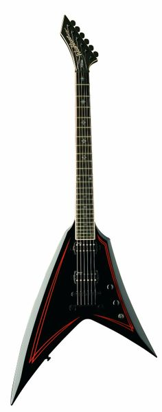 Washburn Guitar -  WV40B Electric Guitar - Black with Red Stripes
