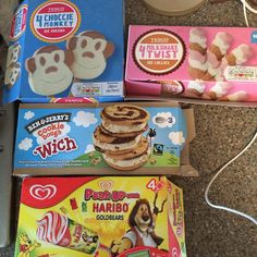 We love dessert in this house... Picked up these low syn beauties apart from the cookie dough which we couldn't resist but still within syns at 11 syns! Monkey (3), milkshake twist (4) & haribo (5) #syns #slimmingworld #slimmingworlduk #swuk #slimmingworlddiary #swmafia #swfriends #swhelp